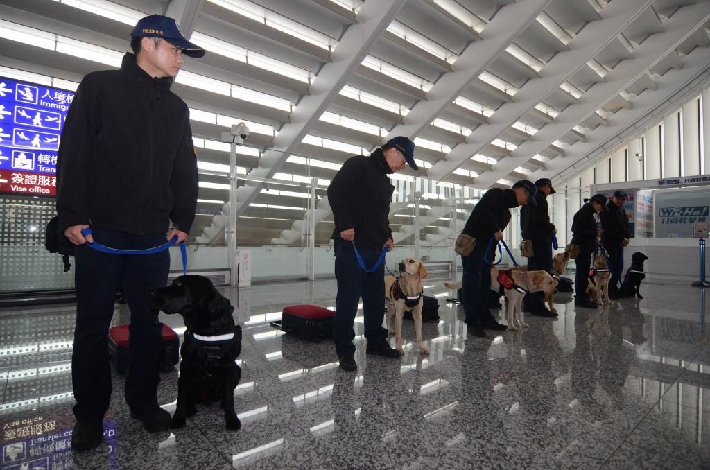 Checks at Taiwan Taoyuan International Airport