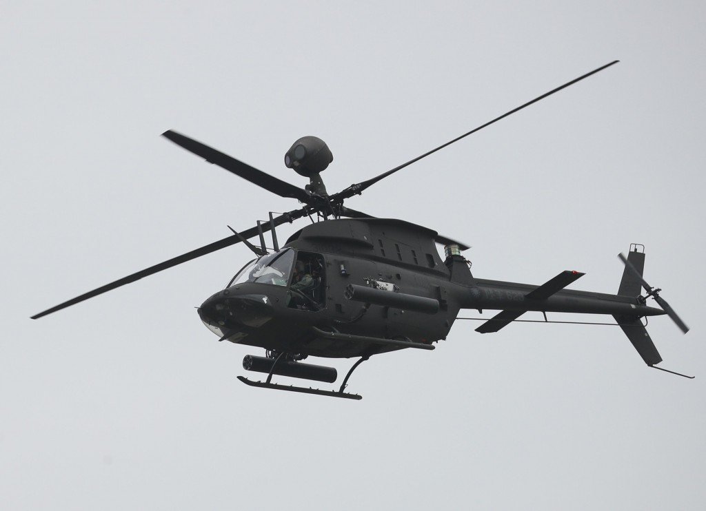 2 pilots killed after helicopter crashes during Taiwan war games