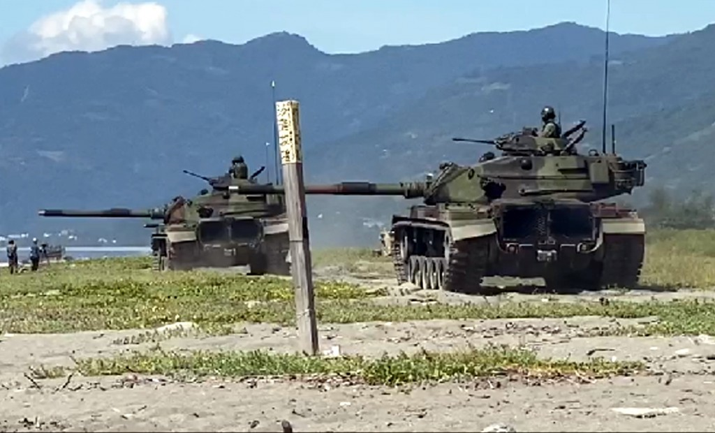 The Han Kuang 36 war games in Taitung County on Thursday (July 16).