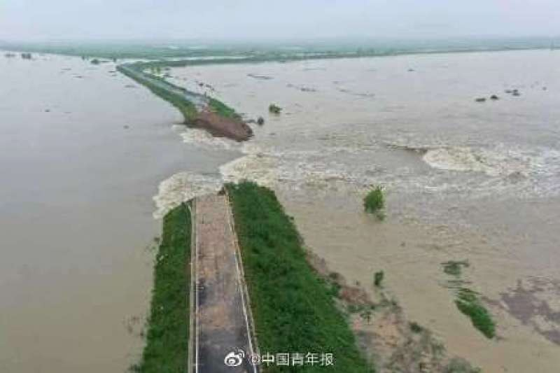 Dam on the Chuhe River. (Weibo photo)