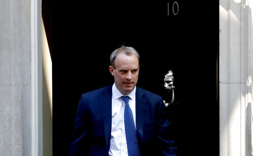 英國外交大臣拉布(照片來源:美聯社提供)