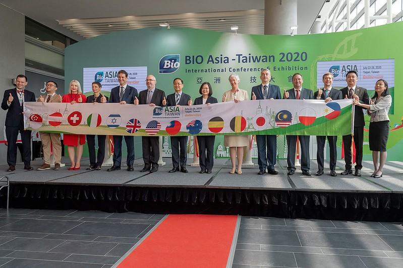 2020亞洲生技大會開幕。(照片由總統府提供)
