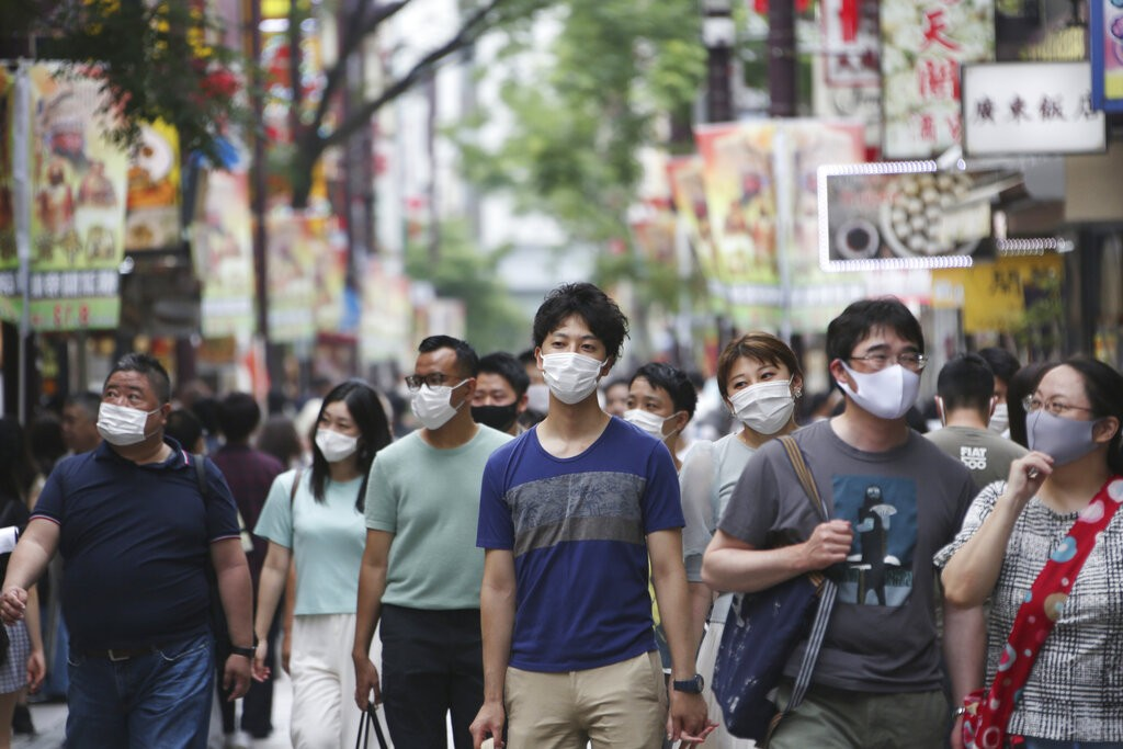 日本東京街頭(照片來源:美聯社提供)