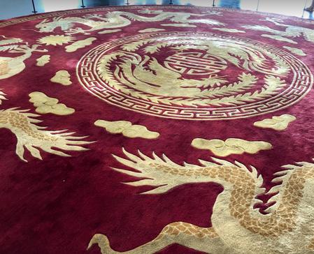說明:越南統一宮內地毯圖騰(翻攝自培力計畫臉書)