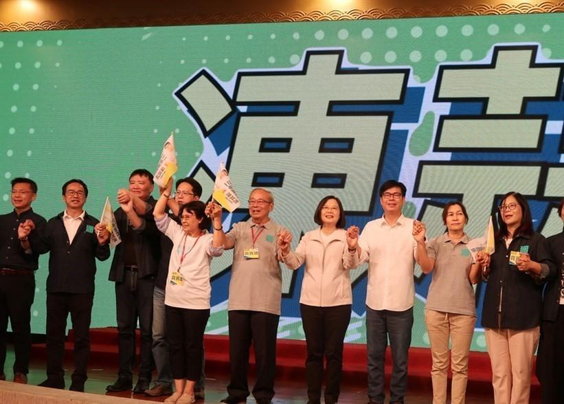 President Tsai at a Chen Chi-mai political rally in Kaohsiung