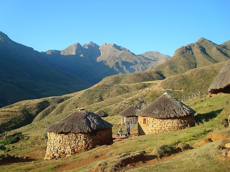 Traditional homes in Lesotho