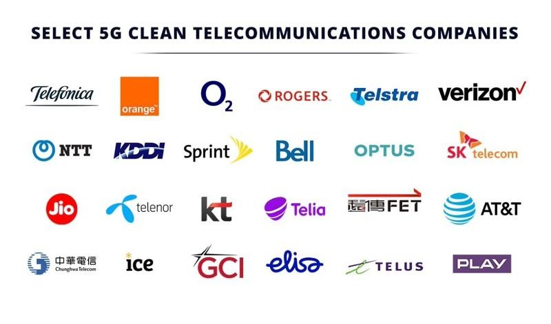 美國國務院公布「5G乾淨網路」清單(圖/國務院)