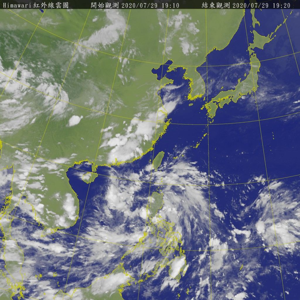 July likely to end without any typhoons (Central Weather Bureau photo)