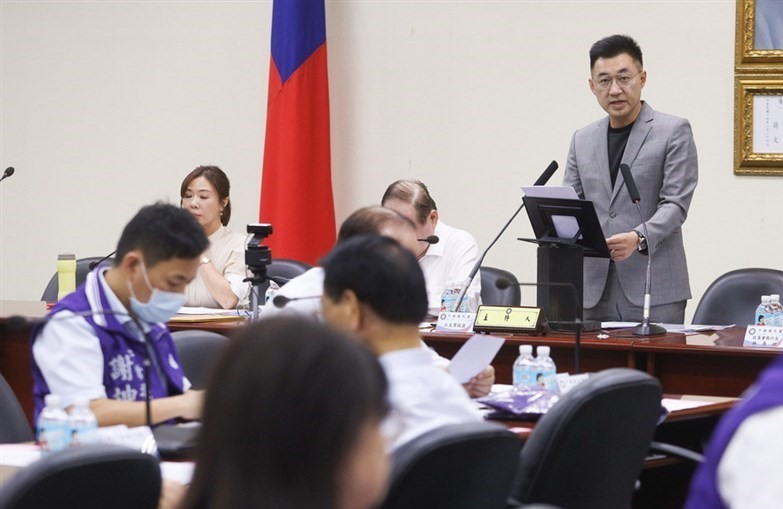 KMT chairman Johnny Chiang at Wednesday'smeeting