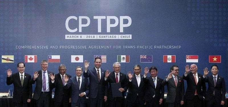 The CPTPP founding meeting in 2018