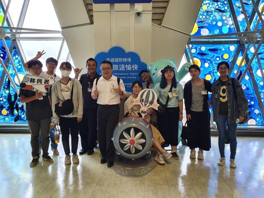 說明:移民青年大使機場巡禮,拓展國際視野再升級(移民署高二站提供)