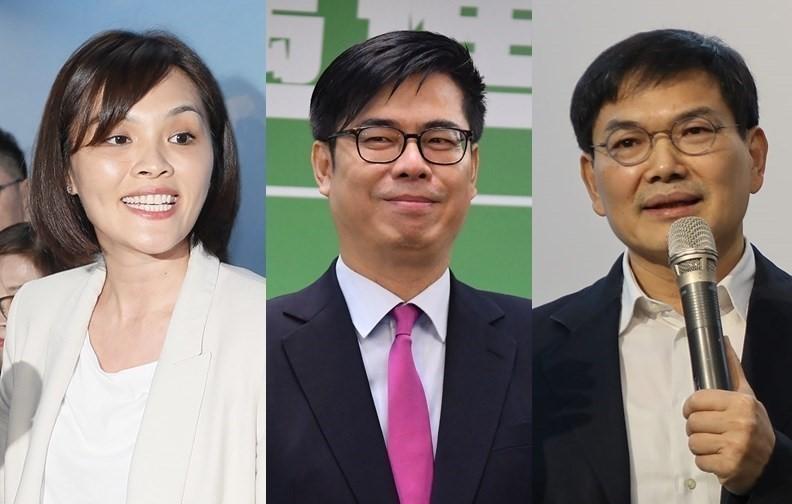 Li Mei-jhen (left), Chen Chi-mai (center) and Wu Yi-jheng (right)