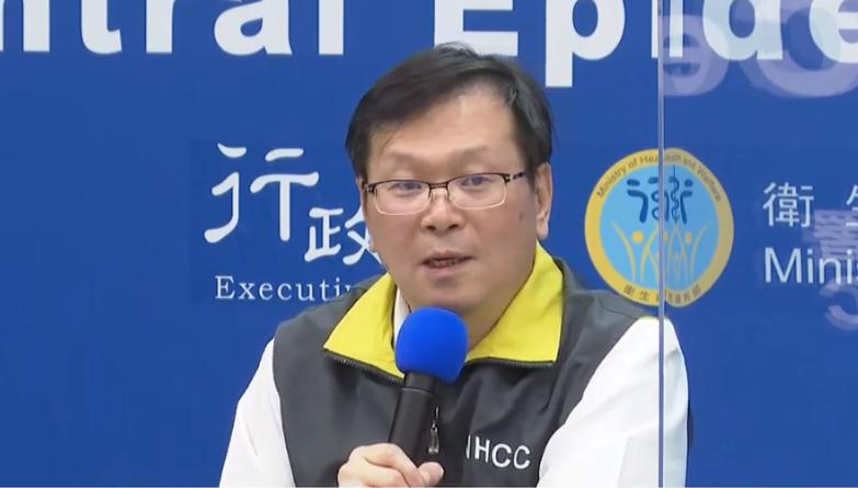 中央流行疫情指揮中心發言人莊人祥表示台灣2日新增一例境外移入(圖擷取自直播影片)