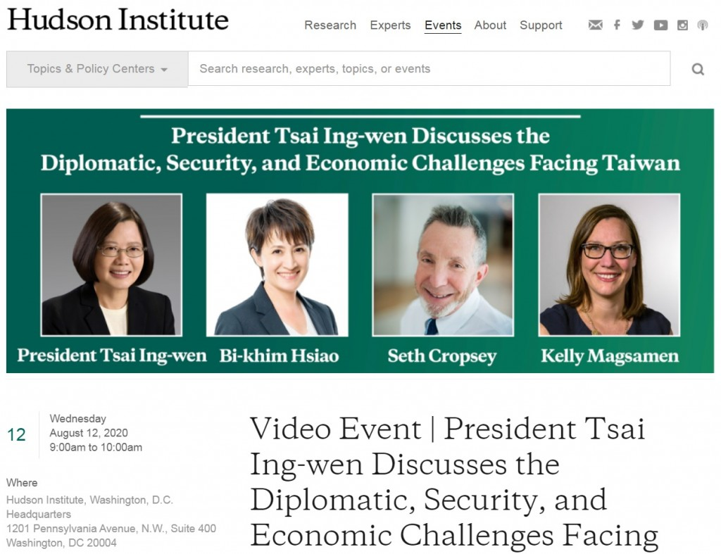 (Hudson Institute website screenshot)