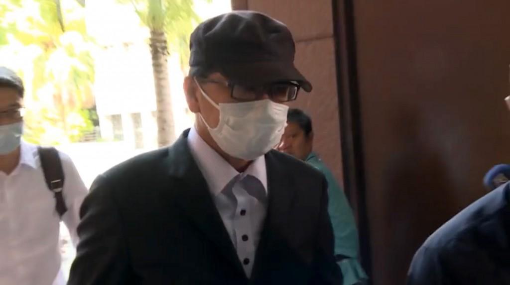 Legislator Chao Cheng-yu arriving in court Saturday Aug. 8