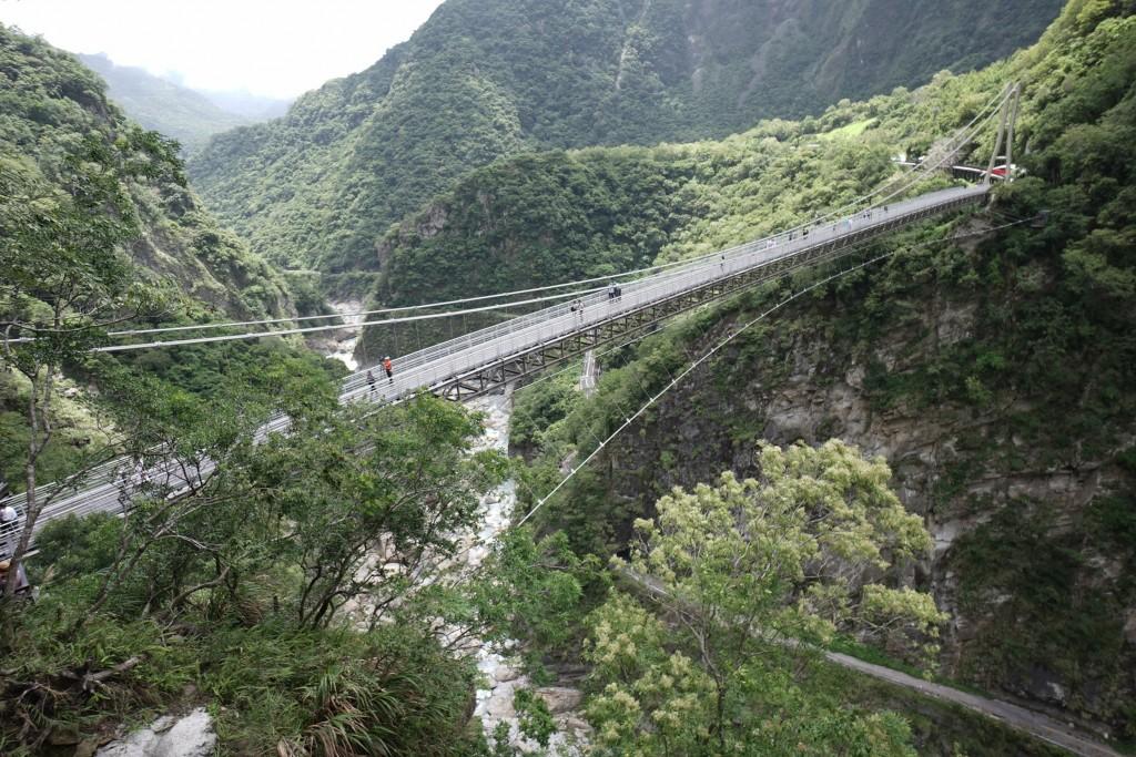 The Mountain-Moon Bridge in Hualien's Taroko National Park