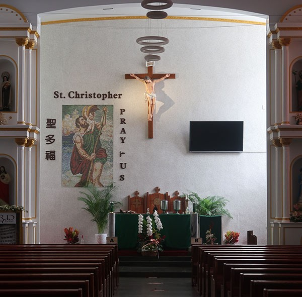 St. Christopher's Church is home away from home for many Filipinos on Sunday.