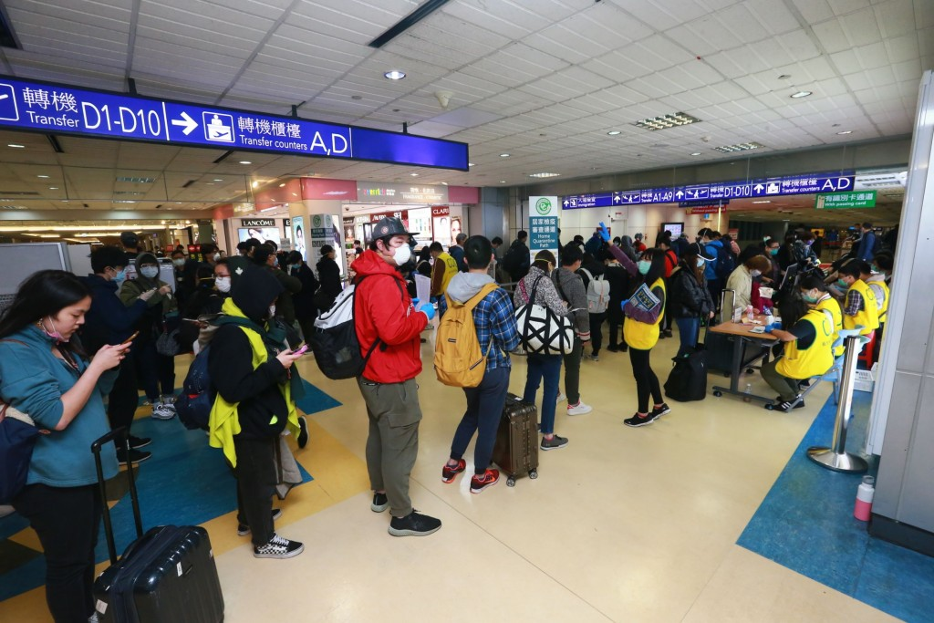 The number of transit passengers at Taiwan's main airport has been picking up slowly.