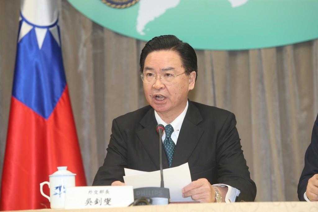 外交部長吳釗燮(圖/ 中央社)