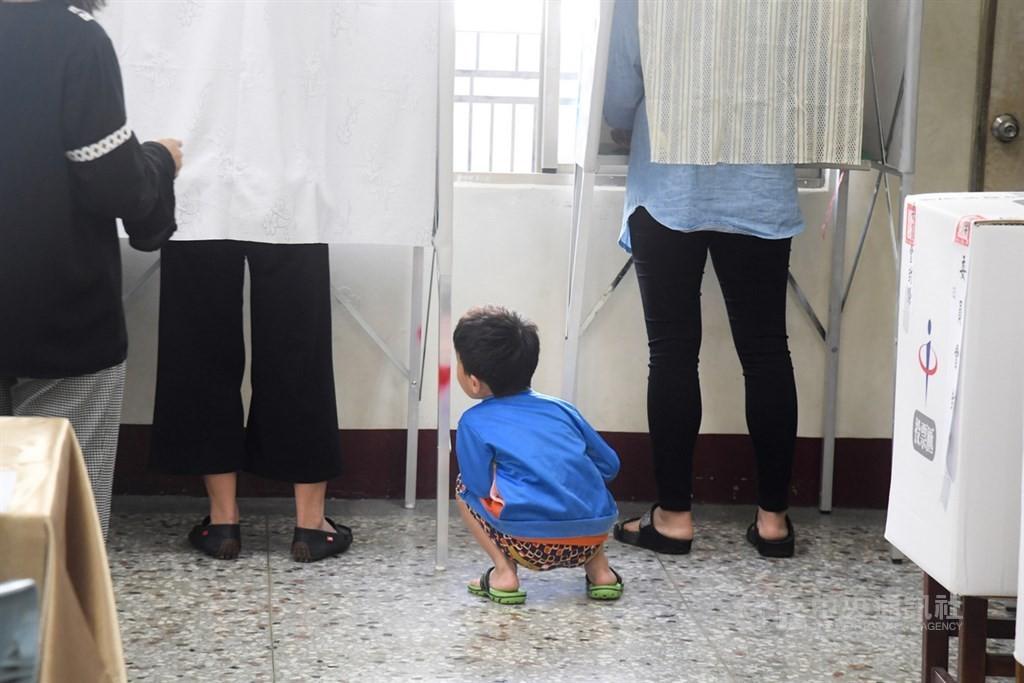 投開票所(中央社檔案照片)