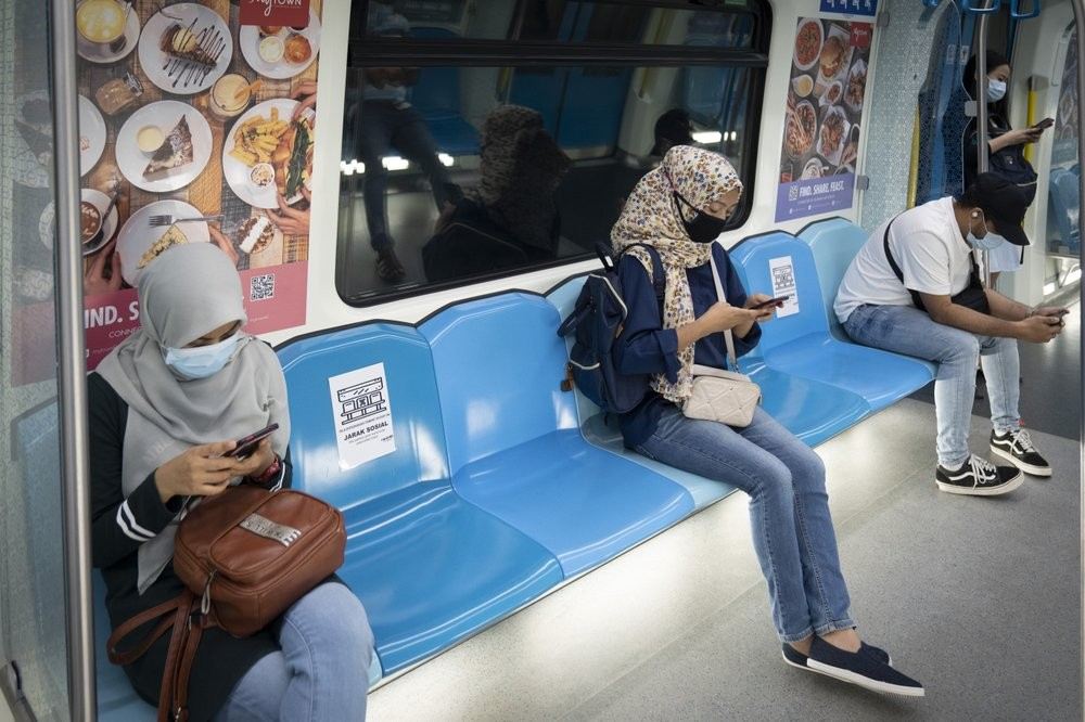 Social distancing on public transport in Malaysia