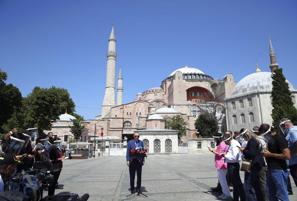 土耳其總統艾爾段表示,土耳其希望希臘採取行動開啟對話管道,以確保東地中海爭端獲和平解決。。(照片來源:美聯社)