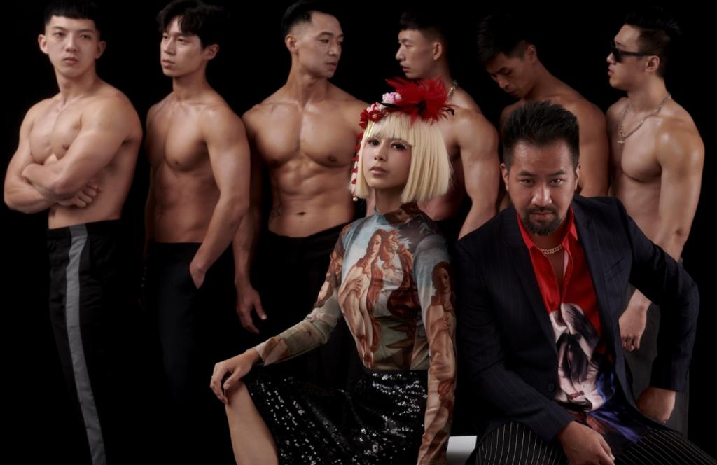 由溫貞菱(前排左)及黃健瑋(前右)主演的《猛男地獄》將於10月23至25日台北親子劇場登場(圖/猛男地獄)