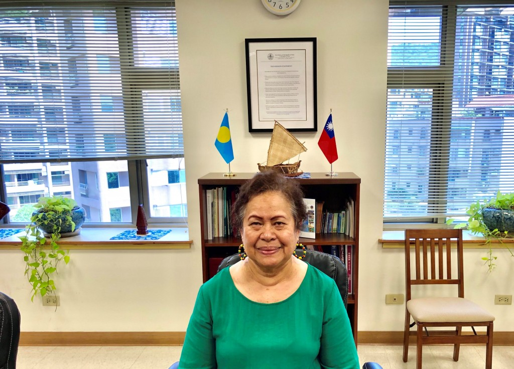 Palau Ambassador to Taiwan Dilmei Olkeriil
