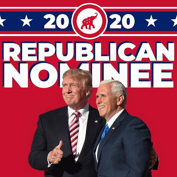 USPresident Donald Trump (left) and Vice President Mike Pence (Facebook, officialteamtrump photo)