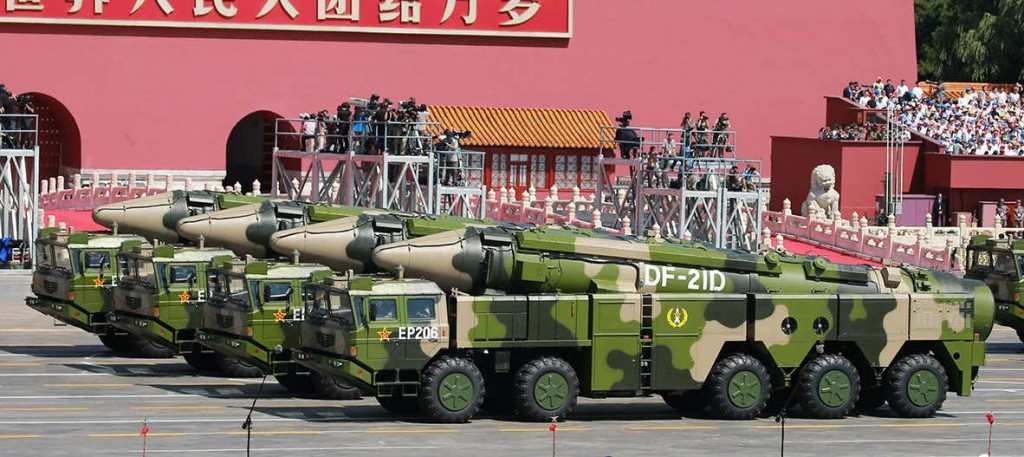 China showing off missiles at its Oct. 1 national day parade in 2019