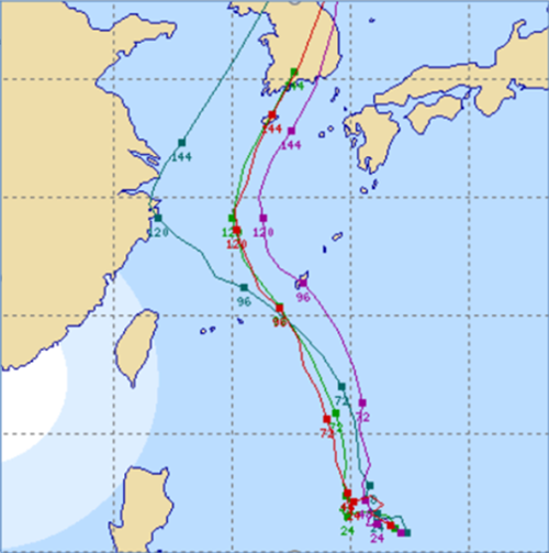 第9號颱風「梅莎」正式生成 多國模式模擬路徑持續修正中