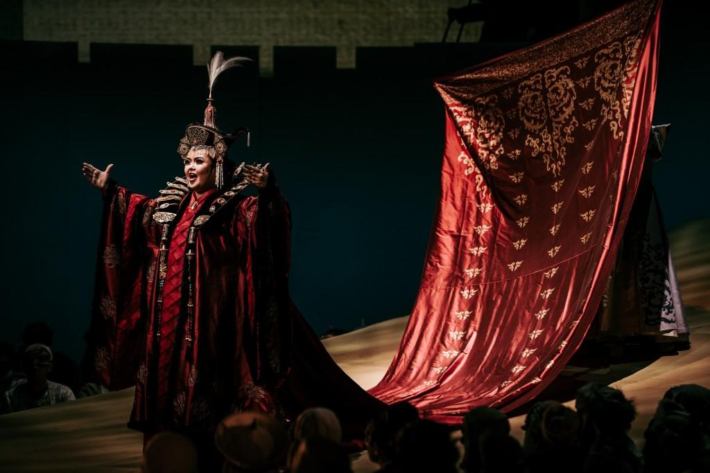 歌劇《杜蘭朵》已於28日晚衛武營線上直播,吸引瑞典、韓國、日本等全國共5萬人觀看(圖/文化部)