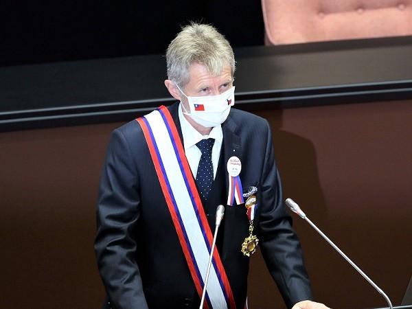 Czech Senate PresidentMilos Vystrcil.