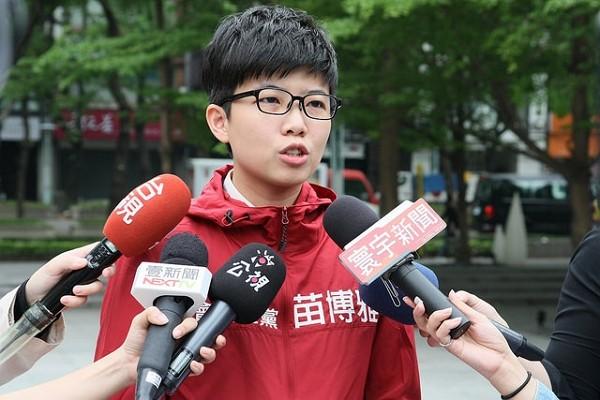 Taipei City Councilor Miao Po-ya. (Facebook,Social Democratic Party photo)