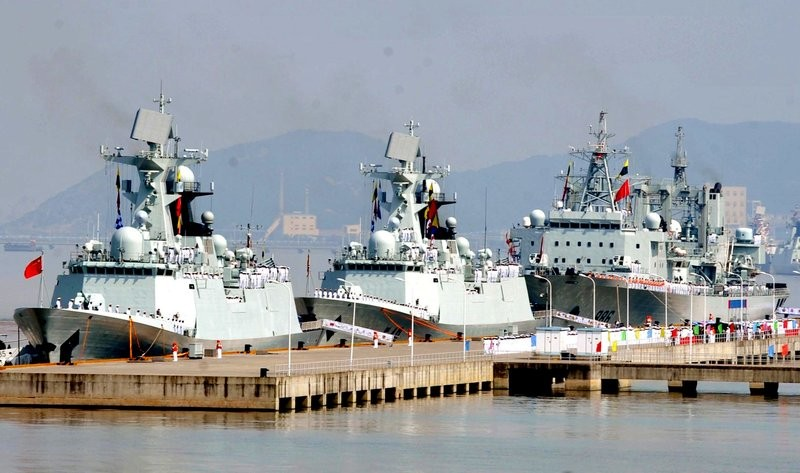 Chinese navy ships.