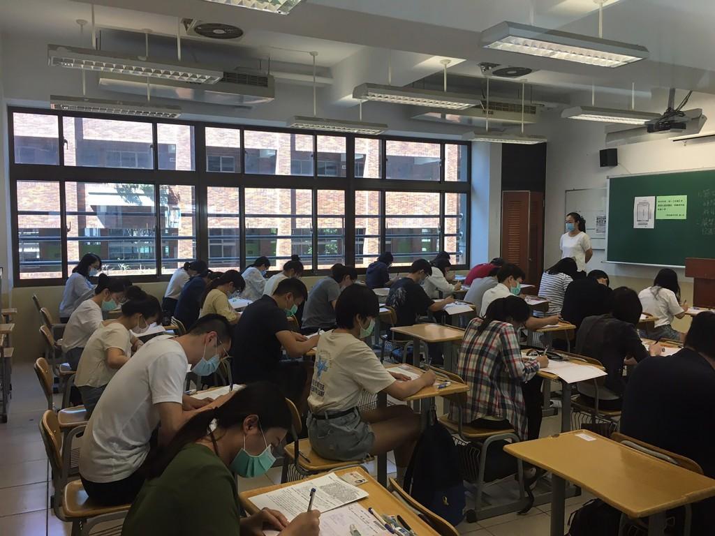 TIAC organized written tests for job applicants in Taipei Saturday (Sept. 5).