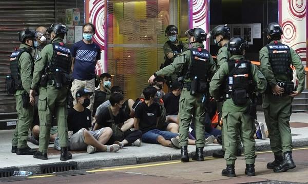 Hong Kong police arrest 289 protesters Sept. 6.