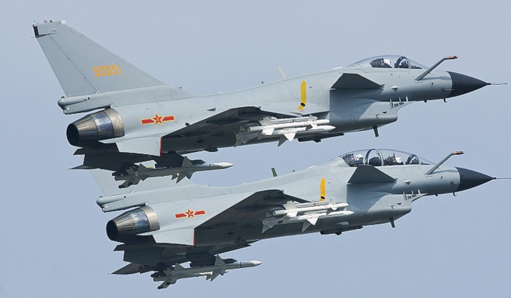 Chengdu J-10 fighter jets. (Internet image)