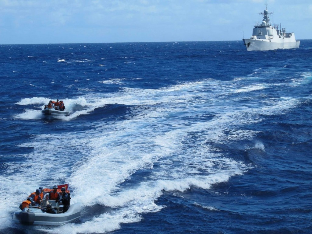 Chinese navy ships in the Pacific