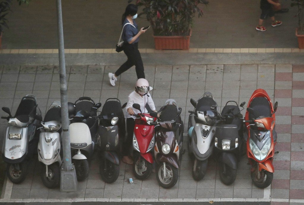 Taiwan considers barring scooters from parking on sidewalks