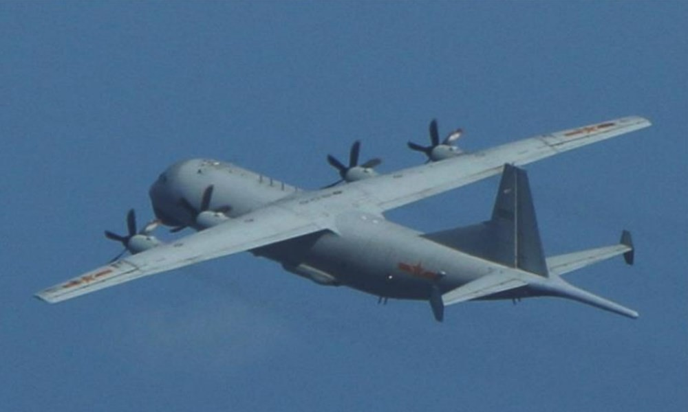 One of two Chinese military aircraft detected inside Taiwan's ADIZ on Wednesday. (MND photo)