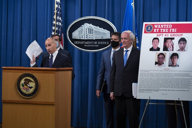 Acting U.S. Attorney for the District of Columbia Michael R. Sherwin speaks, Sept. 16, 2020 at the Justice Department in Washington.