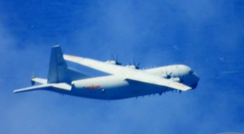 Chinese Y-8 plane (Ministry of National Defense photo)