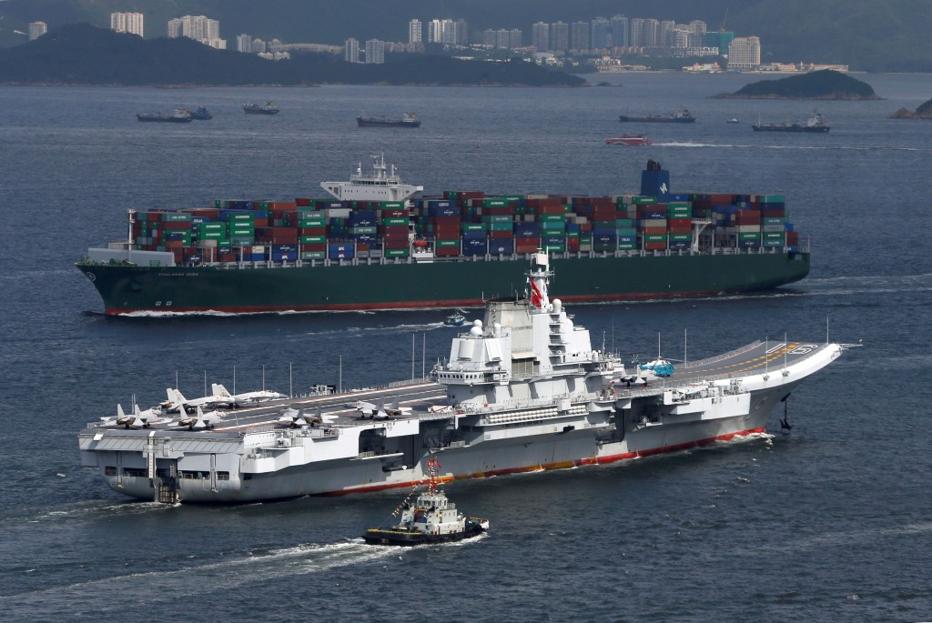 China's Liaoning aircraft carrier (Reuters photo)