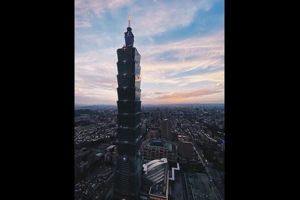 Taipei 101 at sunset. (Instagram, @joeykaotyk photo)
