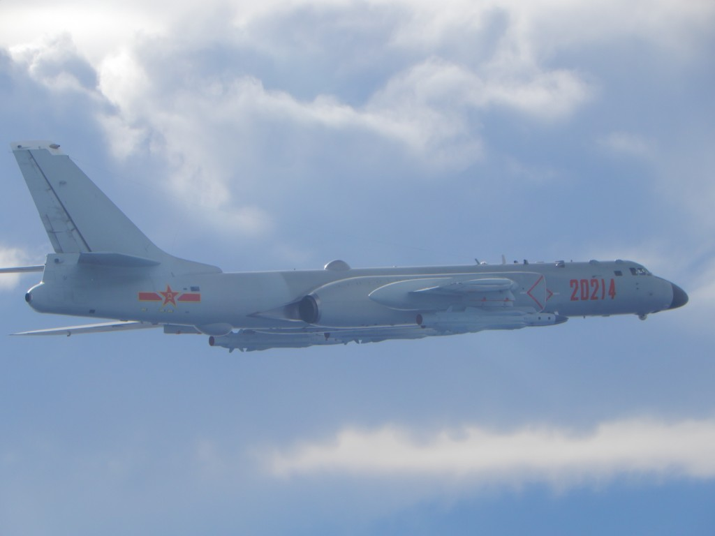 PLAAF H-6 bomber spotted on Friday. (MND photo)