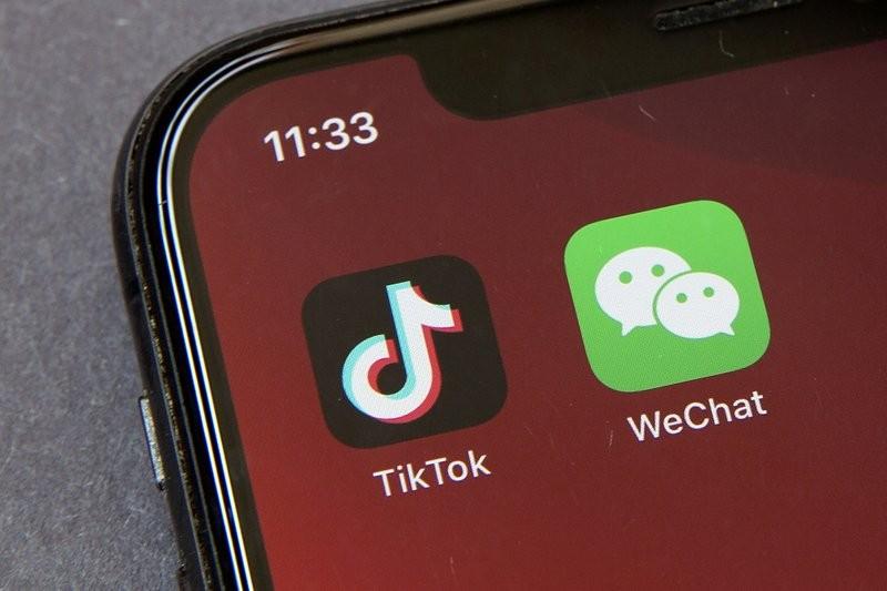 字節跳動旗下的TikTok、WeChat。(圖/美聯社)