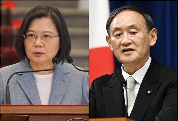 President Tsai Ing-wen and Japan Prime Minister Yoshihide Suga.