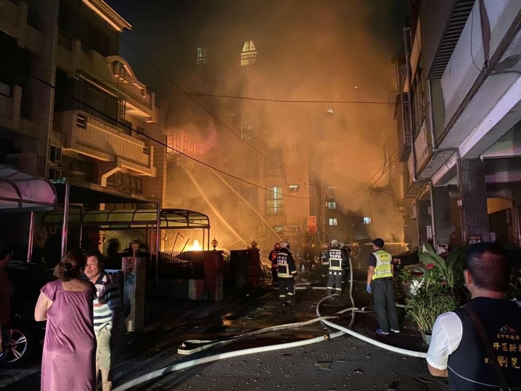 Four people died at the scene of a gas explosion in Taichung Saturday Sept. 19