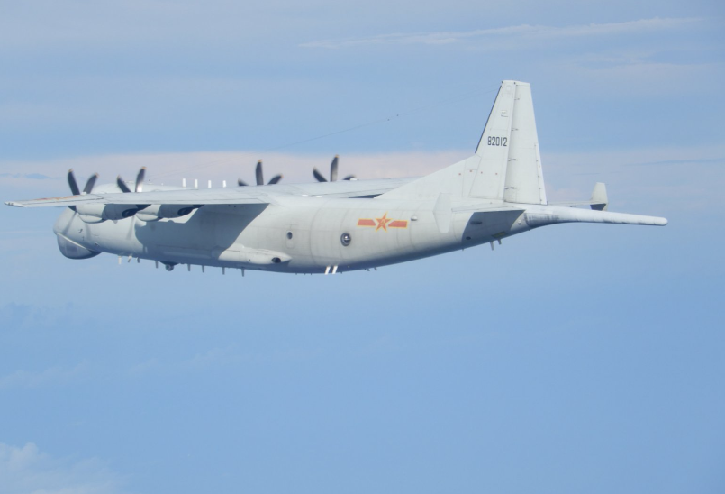 A Chinese Y-8 ASW jet (Twitter, MND photo)